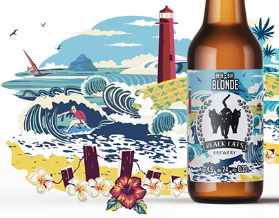 Illustrations for craft beer labels