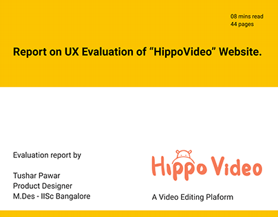 """UX evaluation of """"Hippovideo"""" website"""