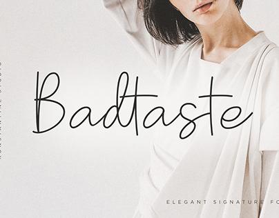Badtaste - Elegant Signature Font