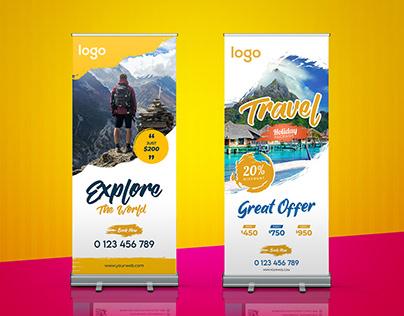 Travel Roll Up Banner Design