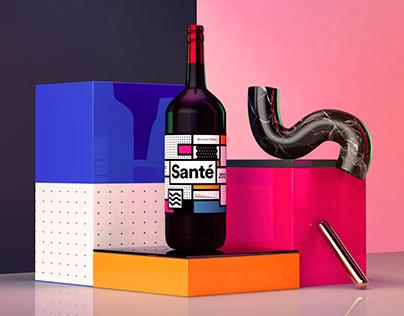 Sante Wine Rebranding Project
