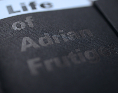 Life and work of Adrian Frutiger