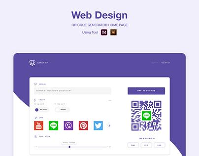 QR Generator Web Design