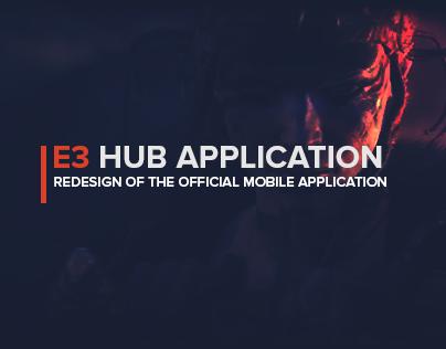 E3 Hub - E3 Mobile App Redesign