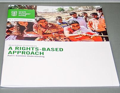 "Broschüren-Titelseite ""A rights-based Approach"""