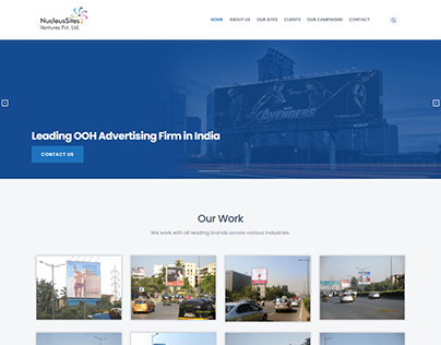 WEB LAYOUT OF OOH ADVERTISING FIRM
