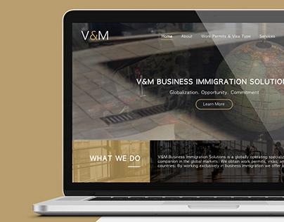 V&M Website Design