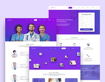 Dental Clinic Full Website Design