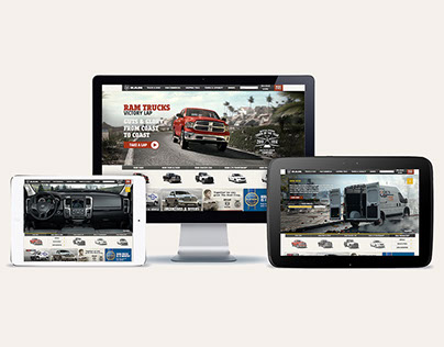 Ram Trucks Home Page Website Experience