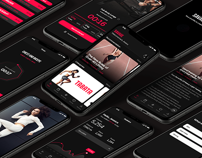 UI/UX of fitness app - track your workout and socialize