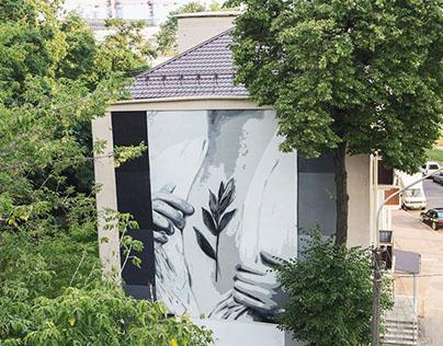 Mural in Minsk for Vulica Brasil'17