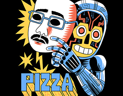 DFTBA - Pizzamas T-shirt Design