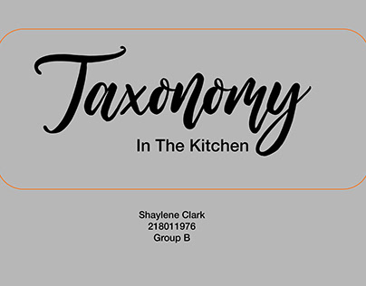 Taxonomy in the kitchen