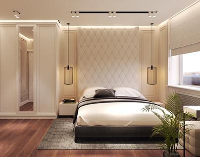 Neo classic / bedroom / Apartment in Almaty 118.3m²