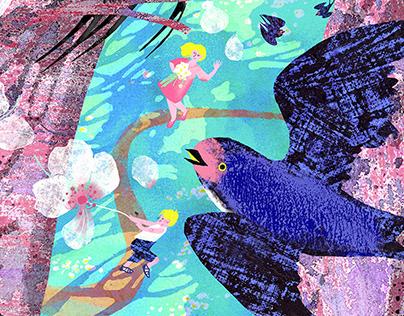 "Book illustration - A. Vivaldi ""Spring"""