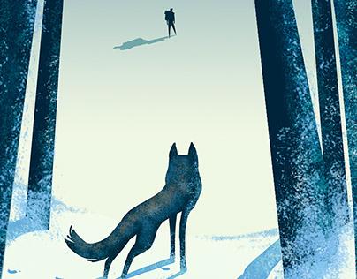 "Cover illustration. ""Lobo. Mountain chronicles"""