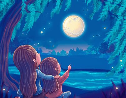 Luna de mi vida - cuento ilustrado
