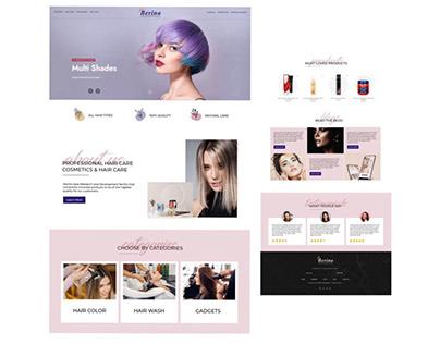 HairCare Website UI