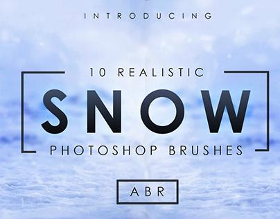 10 Realistic Photoshop Snow Brushes
