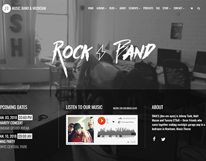 Music WordPress Theme - Home Slider