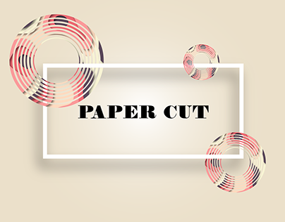 Paper Cut Abstract Design