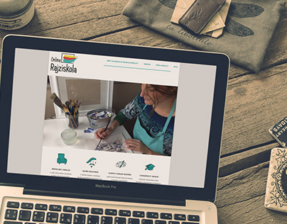 Web design for online drawing school