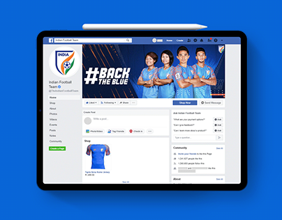 Social Media Header For Indian Football Team ( AIFF )