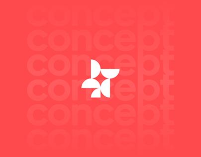 mill + fruit logo concept