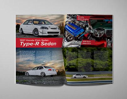 Magazine Spread Type-R Sedan
