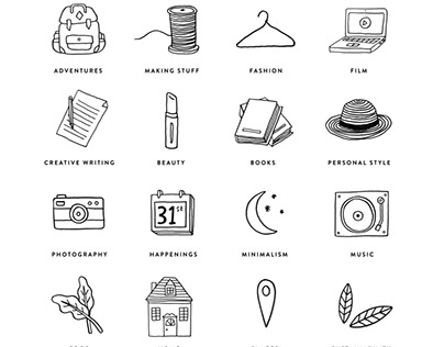 Lifestyle Blog Icons
