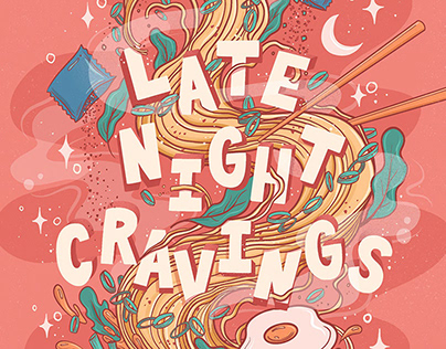 Late Night Cravings Ramen Illustration