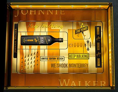 Escaparate Johnnie walker Monterrey