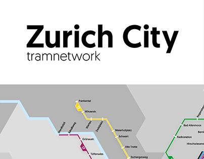 Zürich City - Tramnetwork