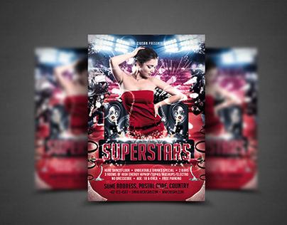 Superstars Flyer Template