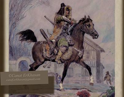 Hero of the war of 1812 Narynbai Zhanzhigituly.