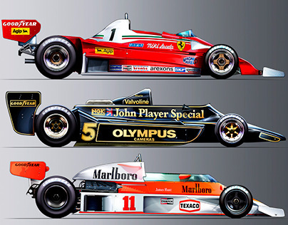 Formula 1 Race Car Illustrations