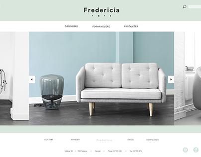 "Webdesign for ""Fredericia Furniture"""