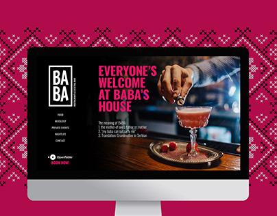 BABA Restaurant & Cocktail bar website