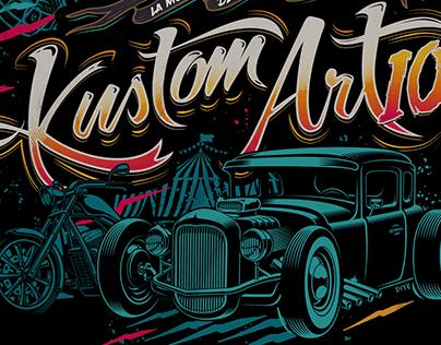 KUSTOM ART 10 - Festival Identity by DIYE