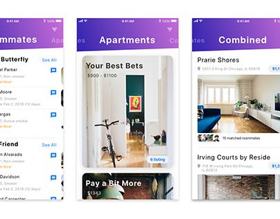 Roommate+Apartment finder