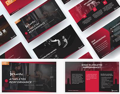 Athletes performance training company presentation