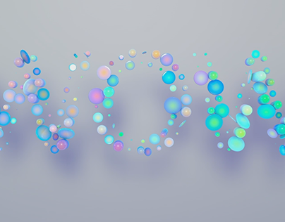 3D lettering animation