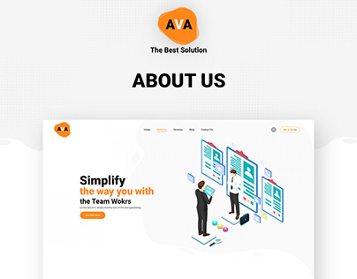 About us page of an AVA The Best Solution