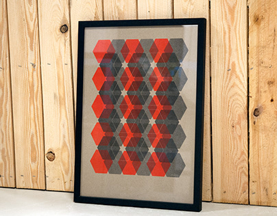 Hexagon Pattern Artprint