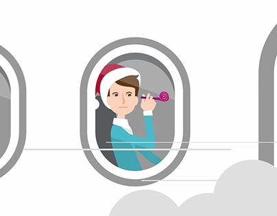 Anticrysis New Year animated clip for TNS company.