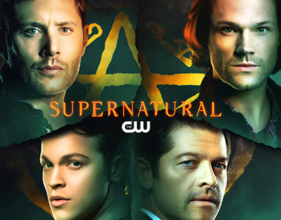 Supernatural final season promo poster unofficial