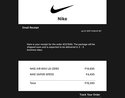 Nike Email Digest
