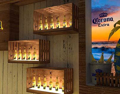 Corona Extra FSU, Bar and mall Kiosk Design