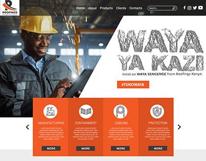 Roofing Kenya -Landing Page Concept