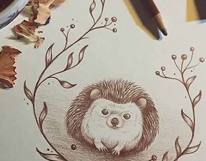 Hedgehog, Fawn & Bunny Holiday Greeting Cards